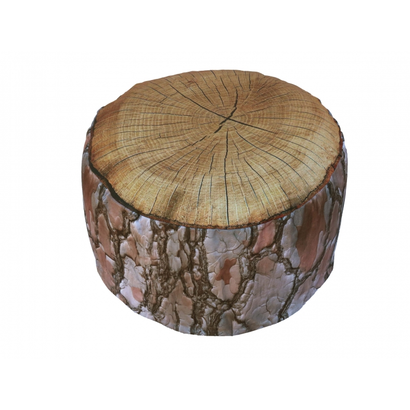 pouf gonflable bois